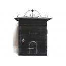 y12453 小房子鐵製信箱-黑色 #53